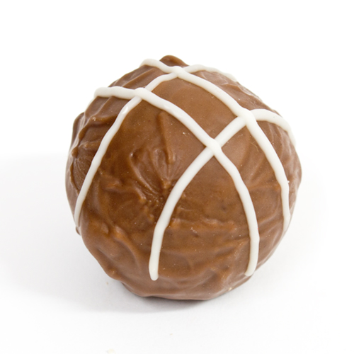 A 33% milk chocolate shell containing a soft, smooth Baileys centre with a hint of coffee. Nut free, Contains Dairy, Alcohol and Gluten